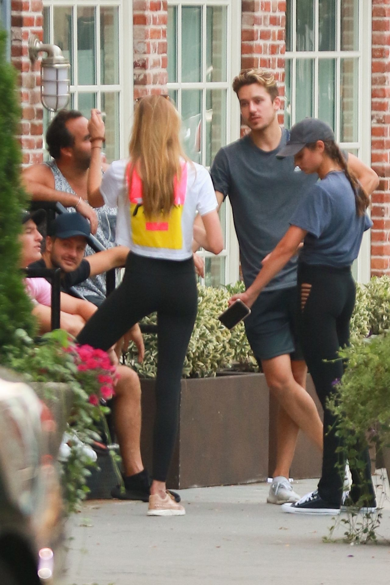 Romee strijd in tights walks with her boyfriend in new york new picture