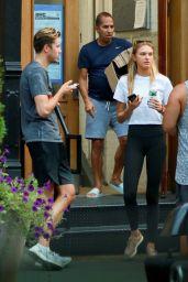 Romee Strijd in Tights - Walks With Her Boyfriend in New York 08/22/2017