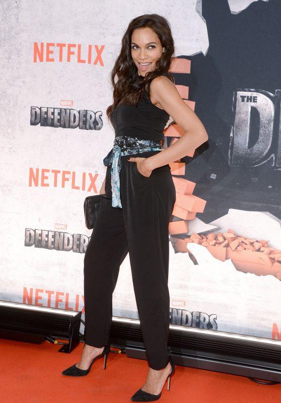 """Rosario Dawson – """"The Defenders"""" TV Show Premiere in New York 07/31/2017"""