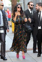 Salma Hayek Arriving to Appear on Jimmy Kimmel Live in LA 08/17/2017