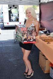 Sara Barrett in Bikini - at the Foothill Swap Meet in Glendora, CA 08/06/2017