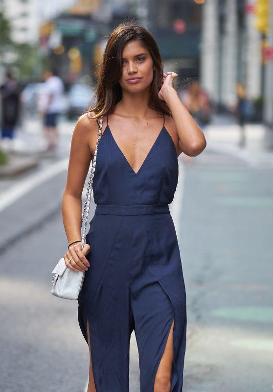 Sara Sampaio Street Fashion – Fittings for the Victoria Secret Fashion Show in NYC 08/27/2017