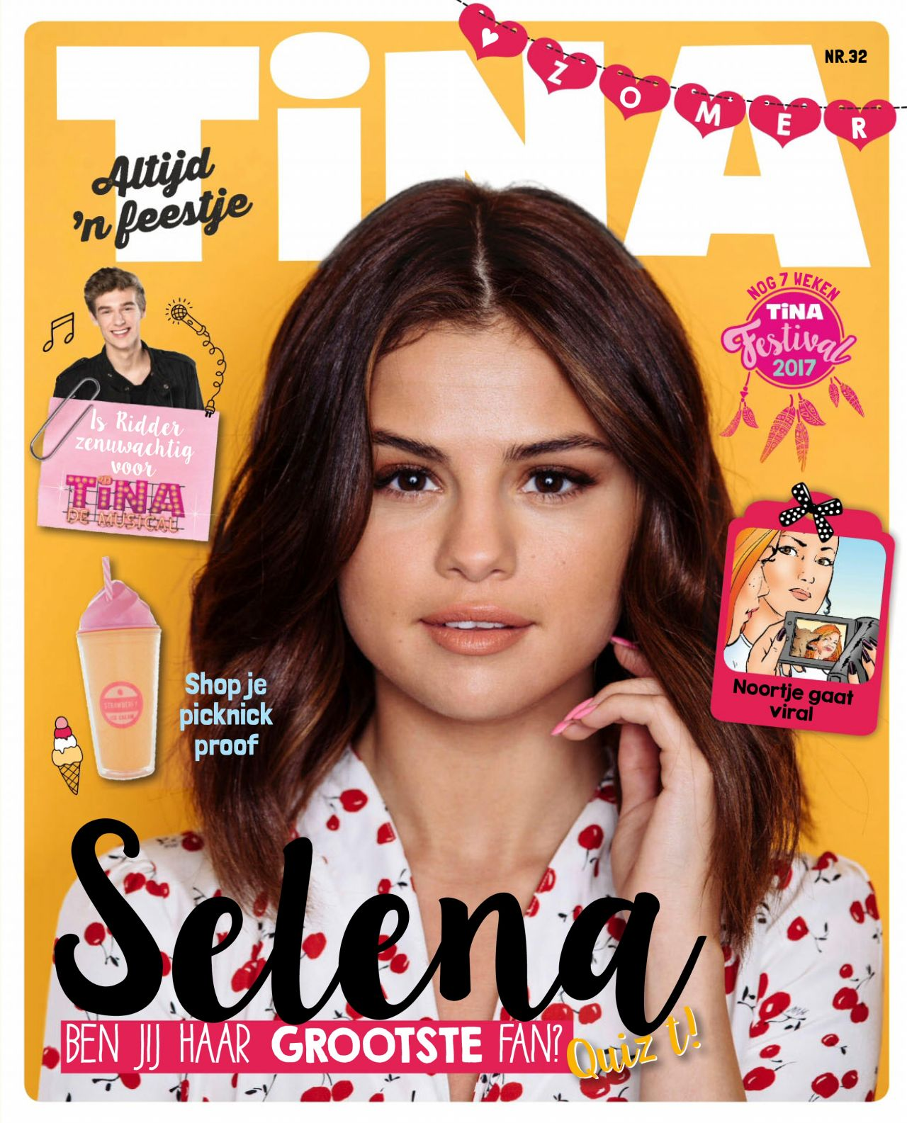 Selena Gomez - Tina Magazine Netherlands Nr.32 2017