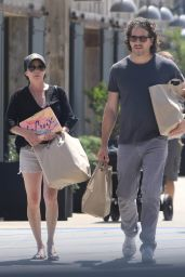 Shannen Doherty With Kurt Iswarienko - Shops at Vintage Grocers in Malibu 08/14/2017
