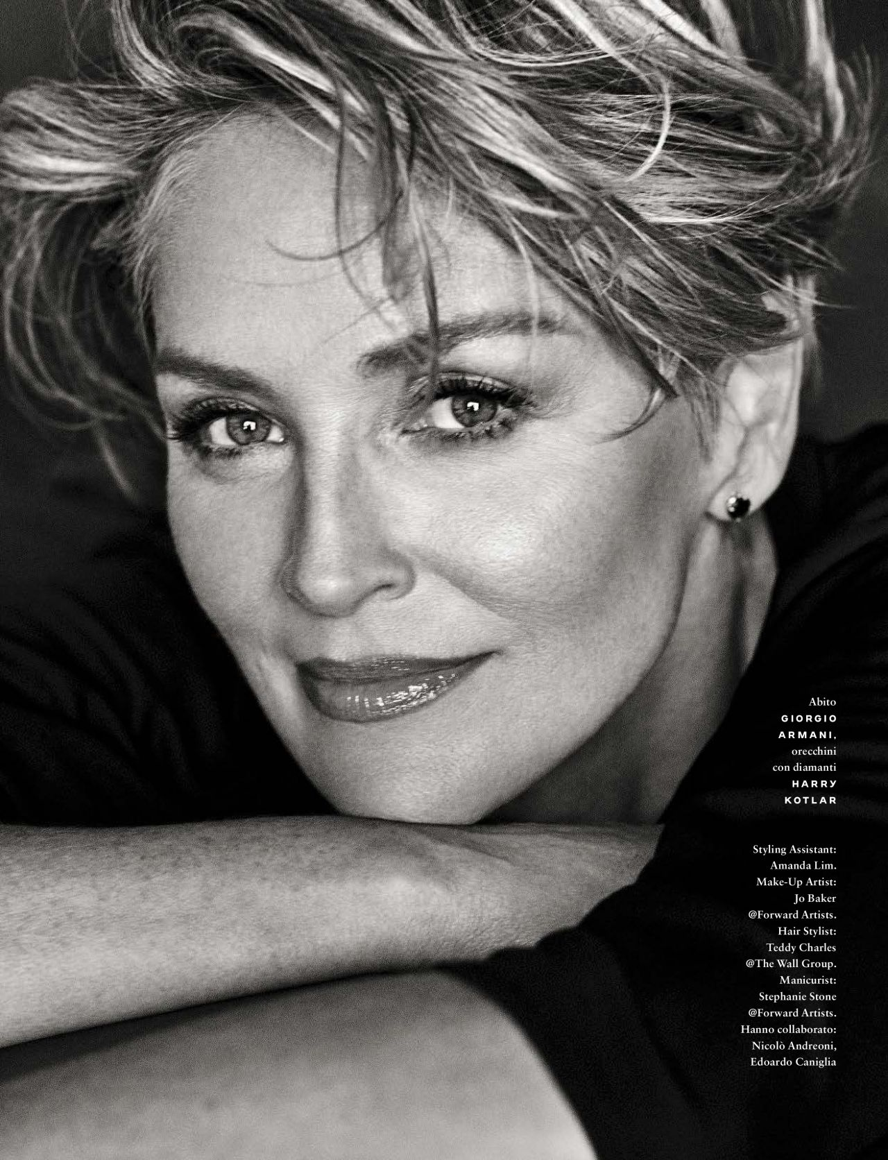 Sharon Stone Gq Magazine Italy September 2017 Issue