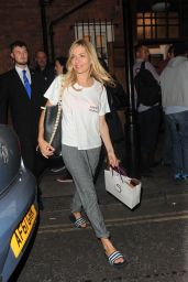 Sienna Miller - Leaves the Apollo Theatre in London, UK 08/14/2017