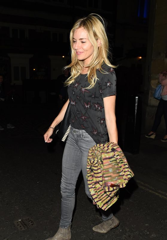 Sienna Miller - Leaving the Apollo Theatre in London 08/10/2017