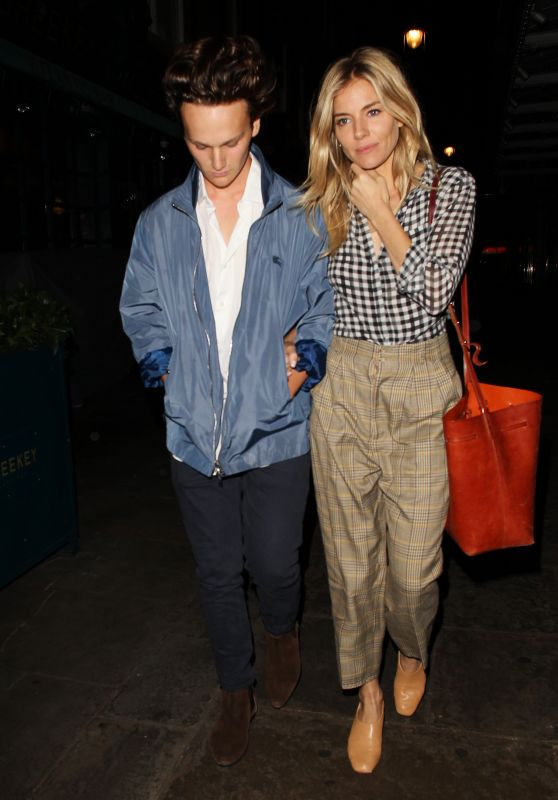 Sienna Miller Night Out Style - Leaving J Sheekey Restaurant in Central London 08/30/2017