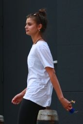 Taylor Hill in Tights - Leaving the Gym in NYC 08/24/2017