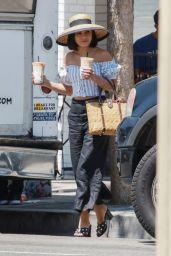 Vanessa Hudgens is Stylish - On a Coffee Run in Studio City 08/12/2017