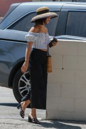 Vanessa Hudgens is Stylish - On a Coffee Run in Studio City 08/12/2017