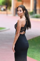Yazmin Oukhellou in a Revealing Dress - Marbella, August 2017