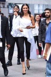 Adriana Lima at H&M Store in Times Square in NYC 09/20/2017