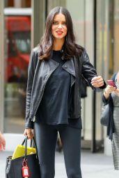 Adriana Lima in Spandex - Leaving SiriusXM Studios in NYC 09/19/2017