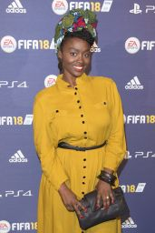 "Aissa Maiga – ""FIFA 2018"" Game Launch Party in Paris 09/25/2017"