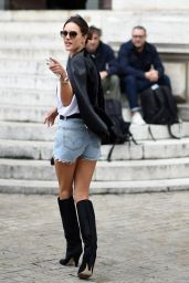 Alessandra Ambrosio – Balmain Fashion Show in Paris 09/28/2017