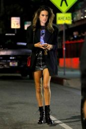Alessandra Ambrosio - Leaves Genghis Cohen Restaurant in West Hollywood 09/24/2017