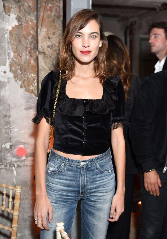 "Alexa Chung – ""Betak Fashion Revolution"" Launch in Paris 09/27/2017"