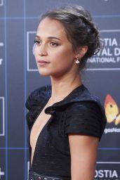"Alicia Vikander - ""Submergence"" Premiere at San Sebastian Film Festival in Spain"