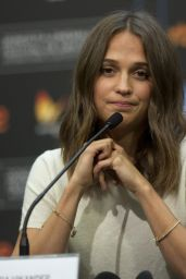 "Alicia Vikander - ""Submergence"" Press Conference in San Sebastian 09/22/2017"