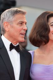 "Amal Clooney and George Clooney - ""Suburbicon"" Premiere in Venice, Italy"