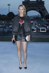 Amber Valletta - Saint Laurent Fasion Show in Paris 09/26/2017