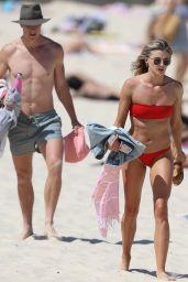 Amy Pejkovic in Bikini on the Beach in Sydney 09/25/2017