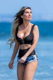 Ana Braga in Tiny Daisy Duke Shorts - Beach in Malibu 09/15/2017
