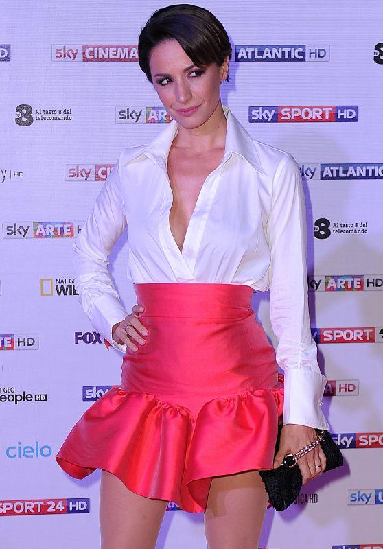 Andrea Delogu – Sky Upfront TV Presentation in Milan, Italy 09/12/2017