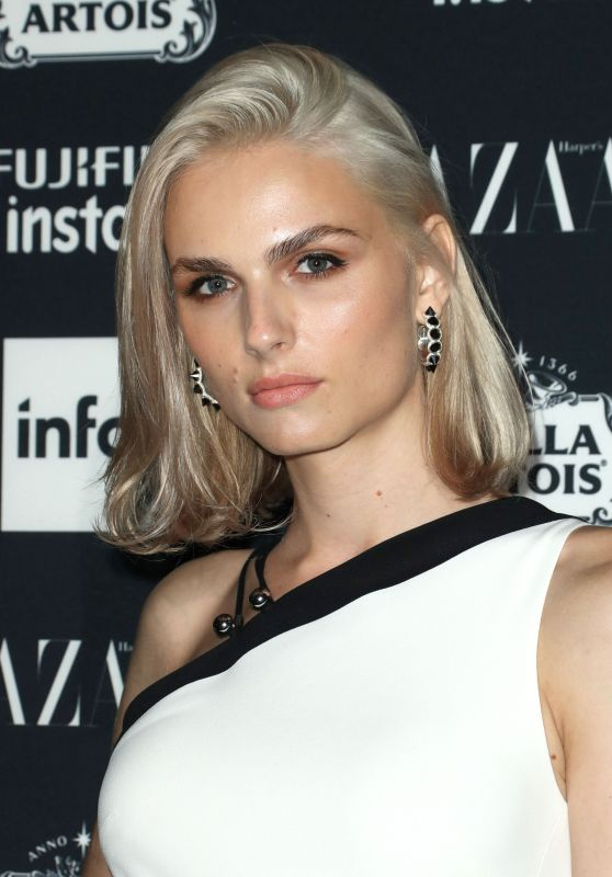 Andreja Pejic – Harper's Bazaar ICONS Party in New York 09/08/2017