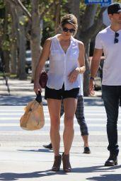 Ashley Greene Leggy in Shorts - Studio City 09/28/2017