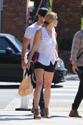 Ashley Greene Leggy in Shorts - Studio City 09/28/2017