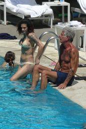 Asia Argento in Bikini at the Hotel Hilton's Swimming Pool in Rome