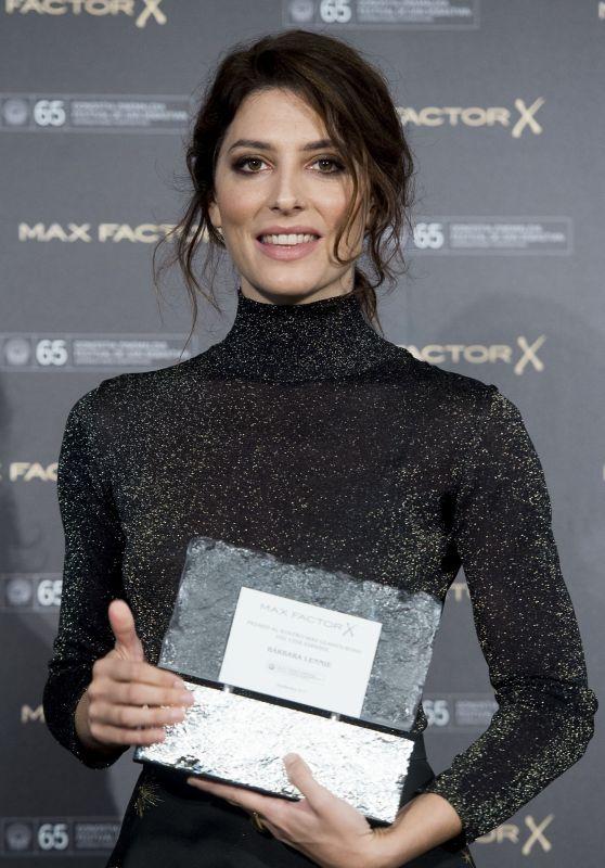 Barbara Lennie - Wins the Max Factor Award in San Sebastián 09/27/2017