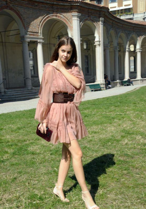 Barbara Palvin - Heading to the Alberta Ferretti Show in Milan 09/20/2017