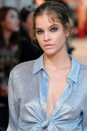 Barbara Palvin Walking Alberta Ferretti Show in Milan 09/20/2017