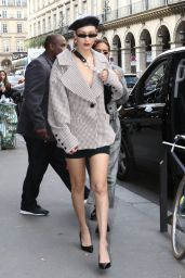 Bella Hadid - Arrives at Museum of Fashion in Paris 09/27/2017