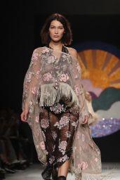 Bella Hadid Walks Anna Sui Show – New York Fashion Week 09/11/2017