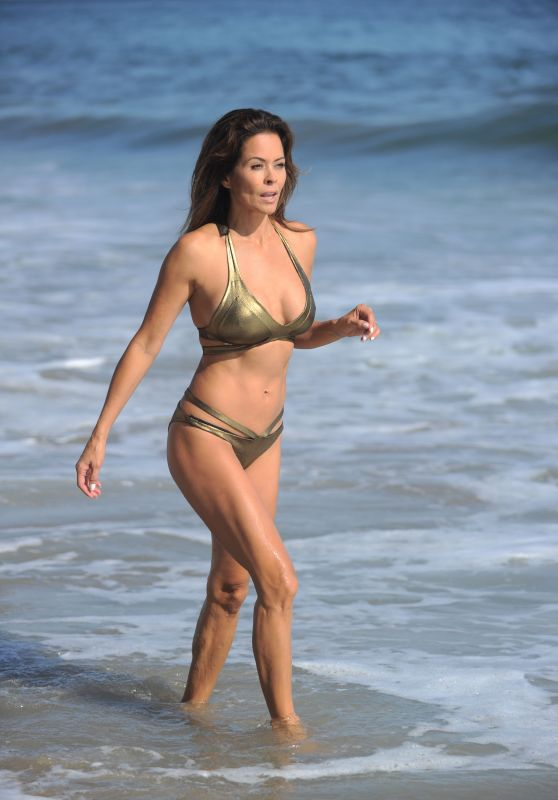 Brooke Burke-Charvet Hot in Bikini - Summer Break in Malibu 08/30/2017