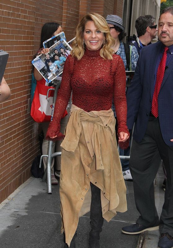"Candace Cameron Bure - Arriving to Appear on ""The View"" in NYC 09/18/2017"