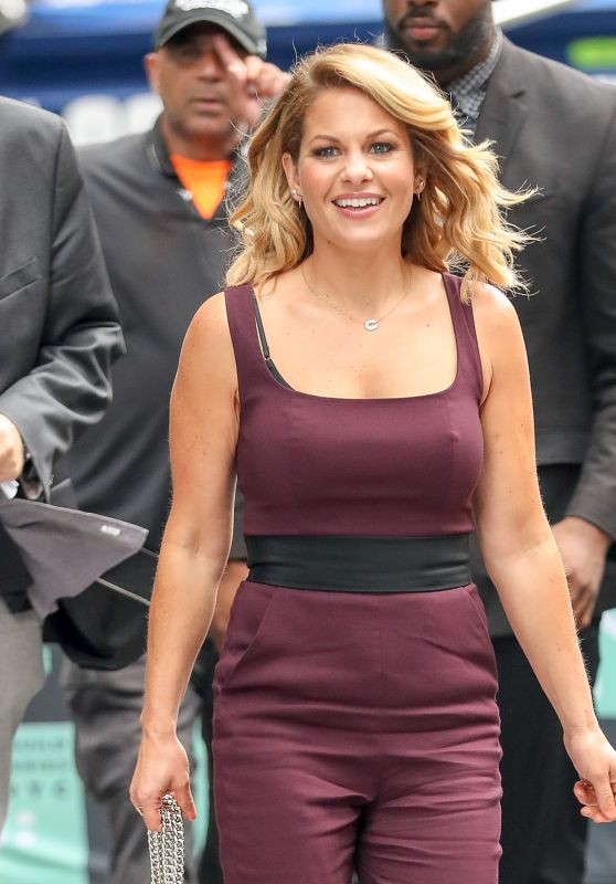 Candace Cameron Bure in a Burgundy Jumpsuit - New York City 09/18/2017