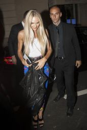 Candice Swanepoel - Arriving at Versache After Party in Milan 09/22/2017