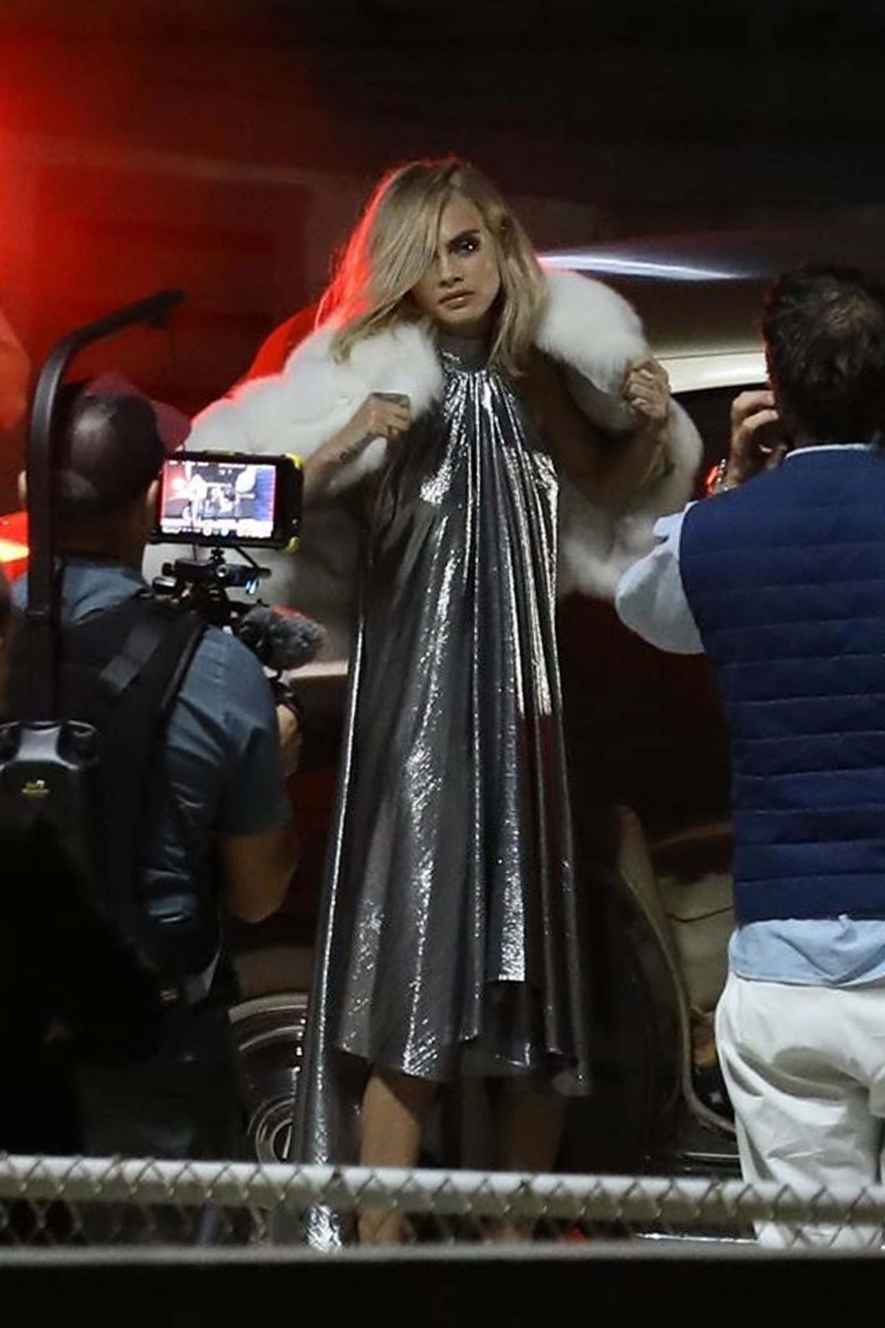 CARA DELEVINGNE on the Set of a Photoshoot in Los Angeles