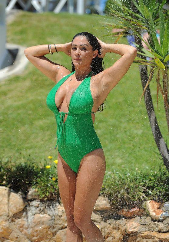 Casey Batchelor in Green Swimsuit in Spain 09/23/2017