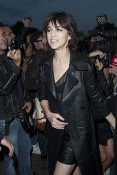 Charlotte Gainsbourg – Saint Laurent Fashion Show in Paris 09/26/2017