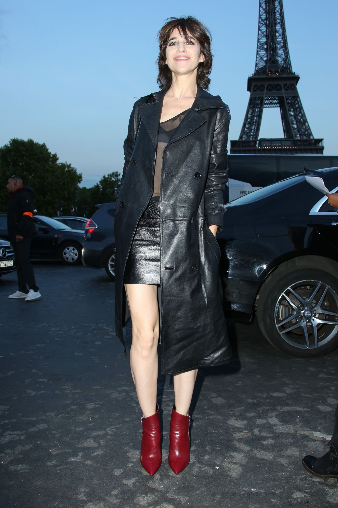 Charlotte Gainsbourg Saint Laurent Fashion Show In Paris