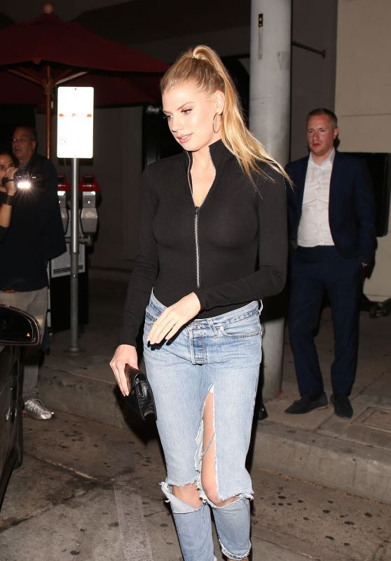 Charlotte Mckinney and Morgan Stewart at Craigs in LA 09/26/2017