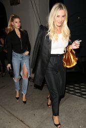 Charlotte Mckinney and Morgan Stewart at Craigs in LA 09/26/2017