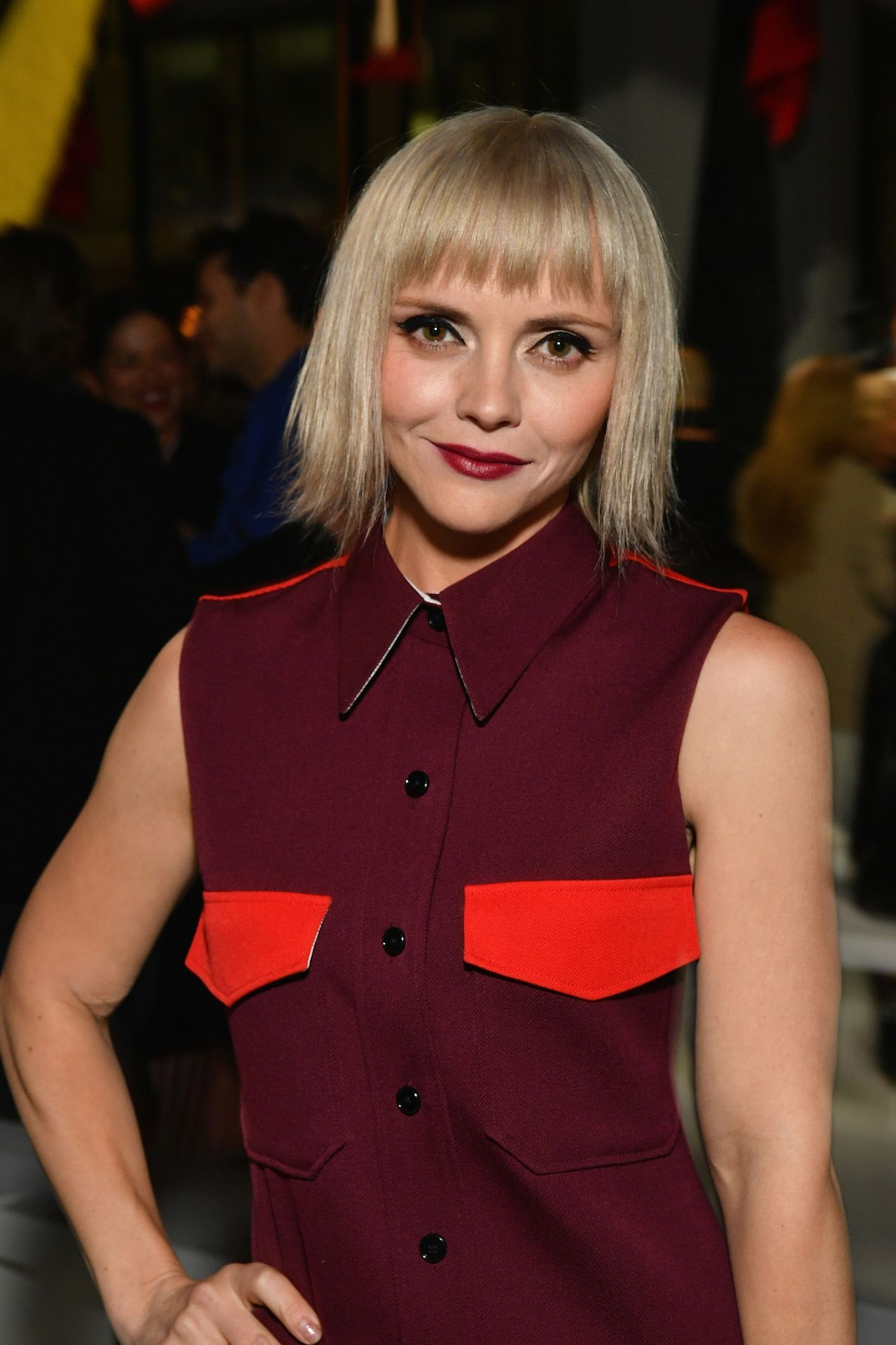 christina ricci at calvin klein collection fashion show