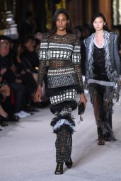 Cindy Bruna – Balmain Fashion Show in Paris 09/28/2017